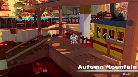 Autumn Mountain Tram Station
