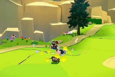 Stomping a Goomba