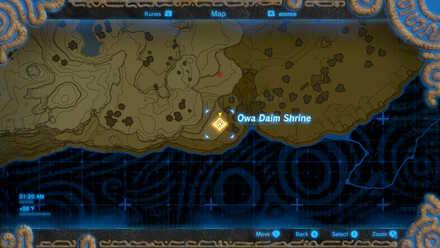 BotW - Owa Daim Shrine Map