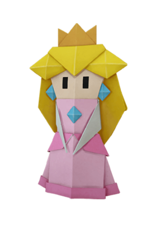 Folded Princess Peach Icon