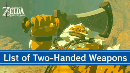 Breath of the Wild Two-Handed Weapons