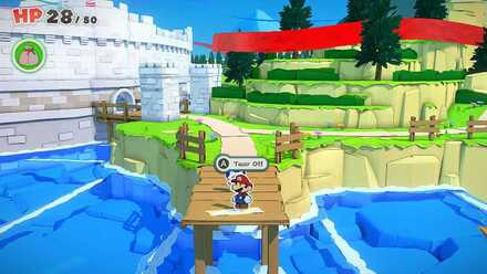 Unlocking Toad Town Shop - Tear off the Sticker on the Bridge.png
