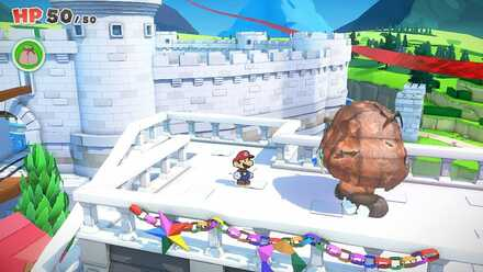 Unlocking Toad Town Shop - Defeat Paper Macho Goomba.png