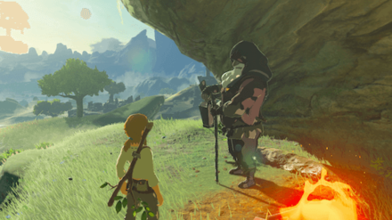 Breath of the Wild - Old Man by the Campfire