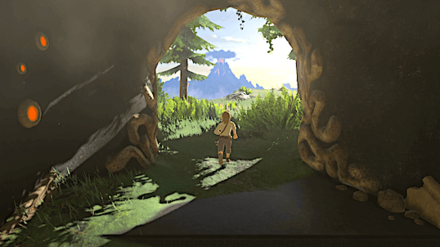 Breath of the Wild - Link leaves the Resurrection Shrine