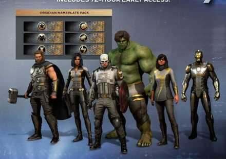Avengers Obsidian Outfits
