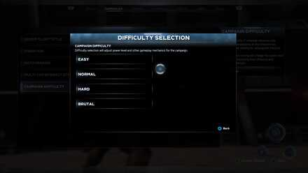 Difficulty Selection Menu