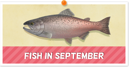 Animal Crossing New Horizons (ACNH) Fish September