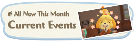 Animal Crossing New Horizons (ACNH) This Month and Current Events