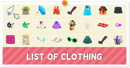 Animal Crossing New Horizons (ACNH) Clothing List.png