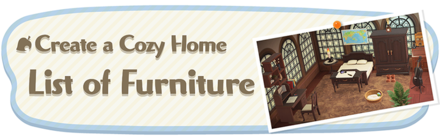 Animal Crossing New Horizons (ACNH) List of Furniture
