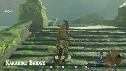 The Legend of Zelda Breath of the Wild (BotW) Reaching Kakariko Bridge.jpg