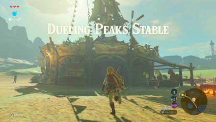 The Legend of Zelda Breath of the Wild (BotW) Reaching Dueling Peaks Stable.jpg