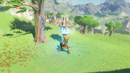 The Legend of Zelda Breath of the Wild (BotW) Lighting a lantern.jpg