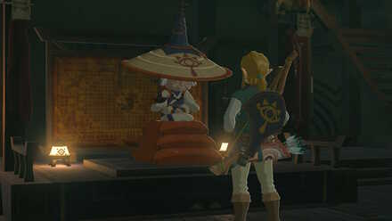 The Legend of Zelda Breath of the Wild (BotW) Talking to Impa.jpg