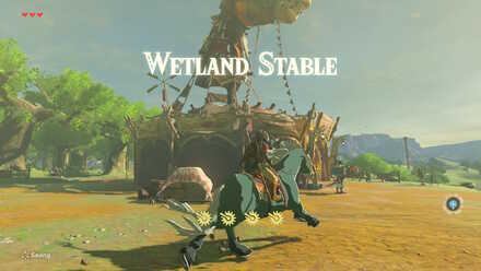 The Legend of Zelda Breath of the Wild (BotW) Wetland Stable