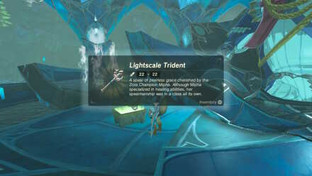 The Legend of Zelda Breath of the Wild (BotW) Getting Lightscale Trident.jpg