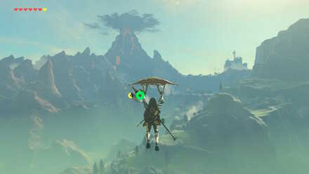 The Legend of Zelda Breath of the Wild (BotW) Paragliding to Eldin Region