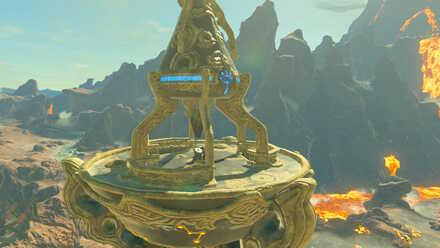 The Legend of Zelda Breath of the Wild (BotW) Activating Eldin Tower
