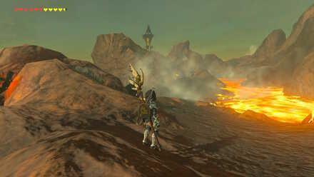 The Legend of Zelda Breath of the Wild (BotW) Going to Eldin Tower