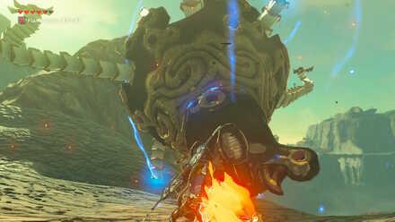 The Legend of Zelda Breath of the Wild (BotW) Defeating Guardian Stalker