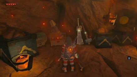 The Legend of Zelda Breath of the Wild (BotW) Items in North Abandoned Mine Vault.jpg