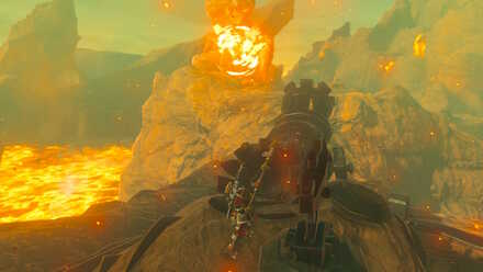 The Legend of Zelda Breath of the Wild (BotW) Using the Cannon to Free Yunobo