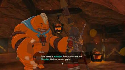 The Legend of Zelda Breath of the Wild (BotW) Meeting Yunobo