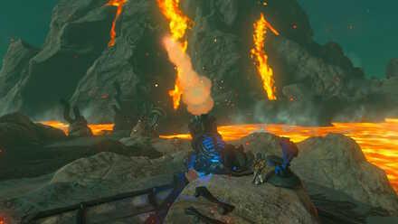 The Legend of Zelda Breath of the Wild (BotW) Bringing the Bridge of Eldin Down.jpg