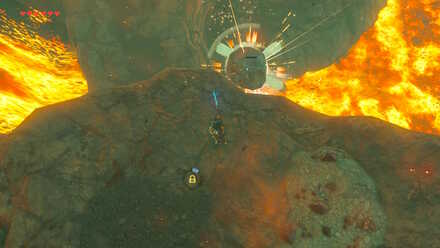 The Legend of Zelda Breath of the Wild (BotW) Destroying Sentry with a Boulder.jpg