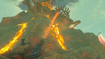The Legend of Zelda Breath of the Wild (BotW) Hitting Vah Rudania.jpg