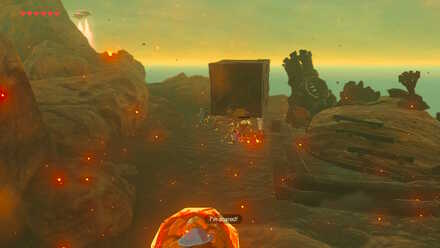 The Legend of Zelda Breath of the Wild (BotW) Defeating Black Moblin with Crate.jpg