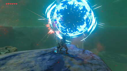 The Legend of Zelda Breath of the Wild (BotW) Detonating Remote Bomb at Sentry.jpg