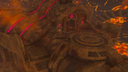 The Legend of Zelda Breath of the Wild (BotW) Divine Beast Vah Rudania Entrance