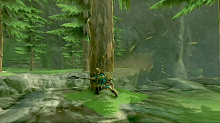 BotW - Cut Down a Tree to Pass