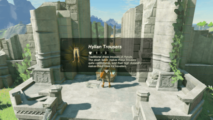 BotW - Get Hylian Trousers for Free
