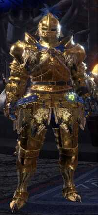 Golden Lune Alpha + Armor Set