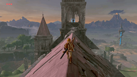 BotW - Reach the Old Man at the Temple