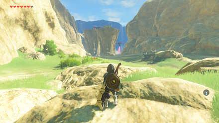 The Legend of Zelda Breath of the Wild (BotW) Guardian Skywatchers in Tabantha