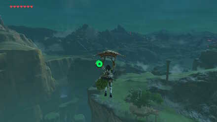 The Legend of Zelda Breath of the Wild (BotW) Paragliding to Central Hyrule