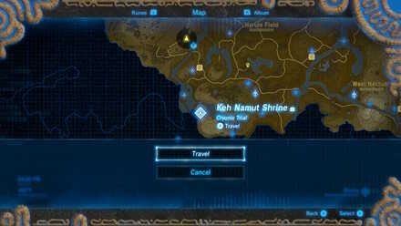 The Legend of Zelda Breath of the Wild (BotW) Travel to Keh Namut Shrine