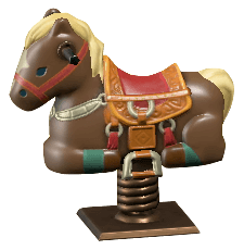 Rodeo-Style Springy Ride-On Image