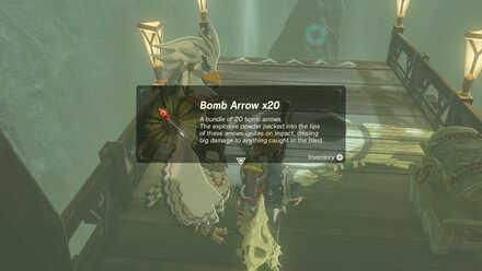 The Legend of Zelda Breath of the Wild (BotW) Receiving Bomb Arrows from Teba.jpg