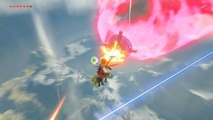 The Legend of Zelda Breath of the Wild (BotW) Destroying Vah Medo Cannons.jpg