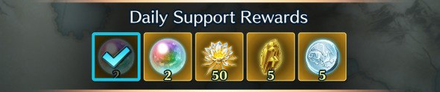 Frontline Phalanx Daily Support Rewards