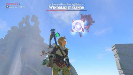 The Legend of Zelda Breath of the Wild (BotW) Windblight Ganon Tornado Blast.jpg