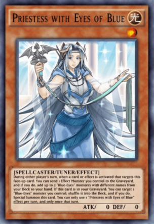 Priestess with Eyes of Blue