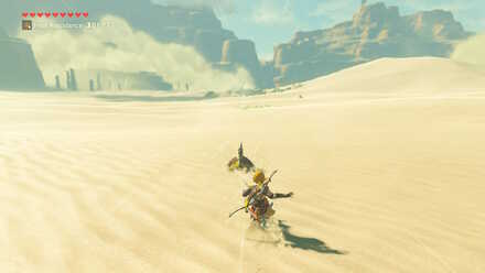 The Legend of Zelda Breath of the Wild (BotW) Sand-seal surfing.jpg