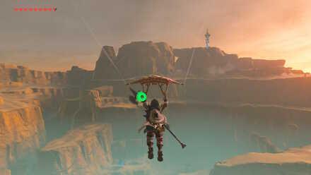 The Legend of Zelda Breath of the Wild (BotW) Gliding to Gerudo