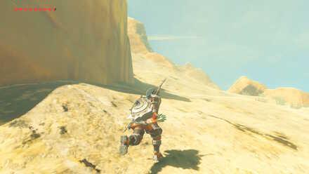 The Legend of Zelda Breath of the Wild (BotW) Climbing Up Mountain